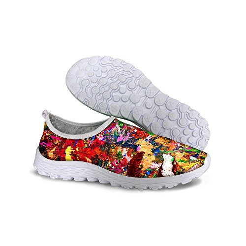 For U Design Elegant Floral Galaxy Print Kvinners Uformelle Mesh Pustende  Gang Joggesko Multi En