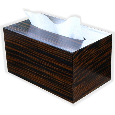 Hand Towel Box Cover and Dispenser made to fit Kimberly Clark Kleenex brand POP-UP Paper Hand Towel Box, By The Tissue Box Cover Store Black Ebony Wood- With Bottom