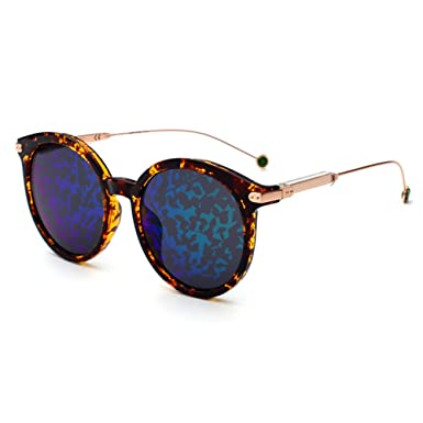 Meijunter Klassisch Driving Brille Sonnenbrille Runden Rahmen Brille Anti-UV Outdoor Eyewear Polarisiert d1fplTL2G