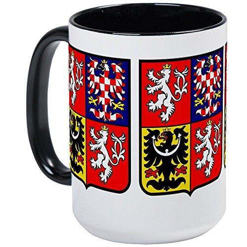CafePress - Czech Rep: Heraldic Large Mug - Coffee Mug, Large 15 oz. White Coffee Cup