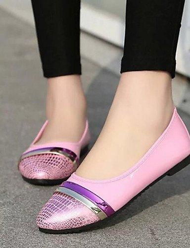 PDX/ Damenschuhe - Ballerinas - Outddor / Lässig - Kunstleder - Flacher Absatz - Komfort / Spitzschuh - Schwarz / Rosa / Grau , pink-us7.5 / eu38 / uk5.5 / cn38 , pink-us7.5 / eu38 / uk5.5 / cn38