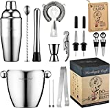 Bar Set 16-Piece Mixology Bartender Kit - Cocktail Shaker Set Bar Tool Set for Home and Professional Bartending - Martini Shaker and Drink Mixing Bar Tools - Cocktail Kit w/Exclusive Recipes Bonus