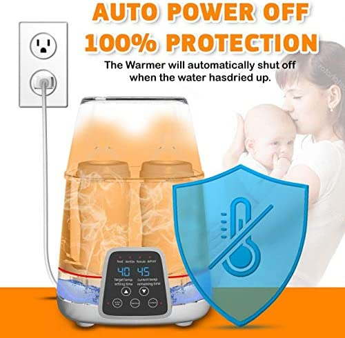51CYwEYACkL. AC - TBI Pro 5-in-1 Portable Fast Baby Bottle Warmer For Baby Milk Breastmilk - Bottle Sterilizer With Timer Safe Auto-Off Function - Two Bottles BPA-Free For Babies Infant Food Rapid Defrosting Heating