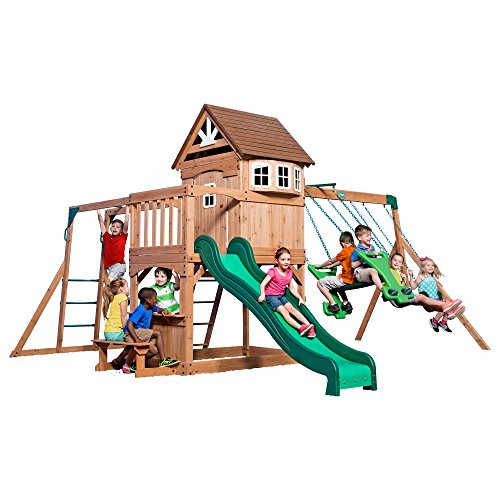 Fort Swing (Backyard Discovery Montpelier All Cedar Wood Playset Swing Set)