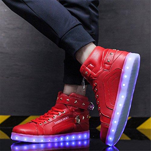 Evening Pu Casual Giorno Natale Lovers Primavera amp; C Up Per Sneakers San Valentino Autunno Del Scarpe Ringraziamento Party Shoes Light Led 5vv6qOH