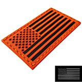 IR Fluorescent Orange Infrared USAR USA Flag Search and Rescue 3.5x2 Urban SAR Tactical Morale Hook&Loop Patch