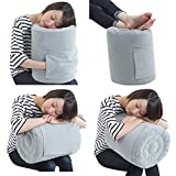 SmartTravel Travel Pillow Inflatable Flight Sleep Pillows, Air Foot Rest for Airplane (2. L Size (for Those...