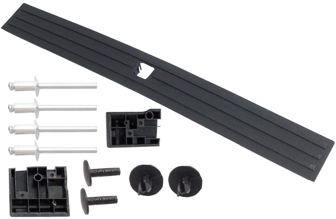 KARPAL Center Flexible Flex Step Tailgate Cap Mad Molding Trim w//Release Button Compatible With 2015-2020 Ford F-150