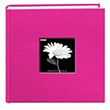 Pioneer Photo Albums 200 Pocket Fabric Frame Cover Photo Album, Bright Pink