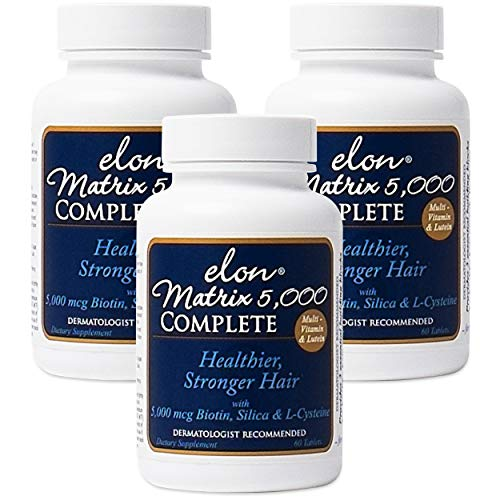 Elon Matrix 5,000 Complete Multi-Vitamin for Hair – 3 Pack
