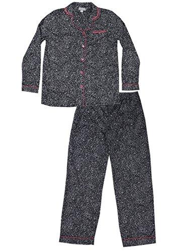 Long Sleeve Polar Fleece Top - PLUS SIZE 2 PCS SET Womens Designer Brand Fall / Winter Polar Fleece Sleepwear 2X Multicolor