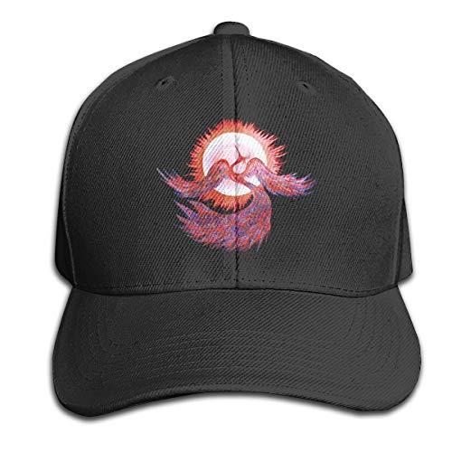 (Phoenix and Sun Pure Color Peaked Hats Adjustable Dad Cap Fits Men Women Black)