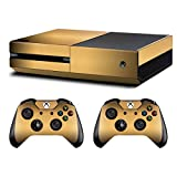 UUShop Protective Vinyl Skin Decal Cover for Microsoft Xbox One Console Brushed Metal Champagne Gold