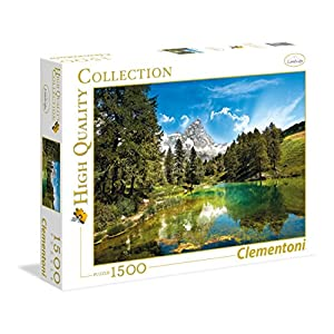 Clementoni 31680 High Quality Collection Puzzle Blue Lake 1500 Pezzi