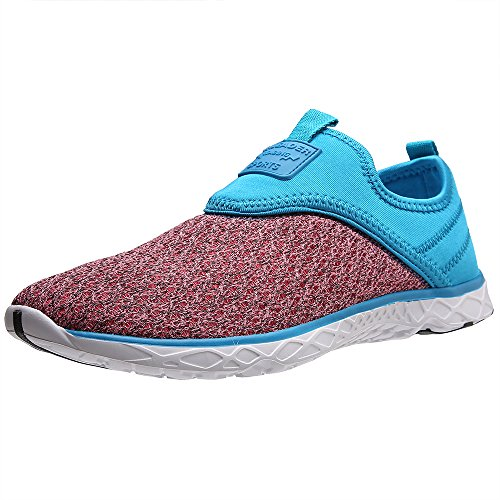 ALEADER Womens Slip-On Athletic Water Shoes Blue/Pink 5o3C4FGzna