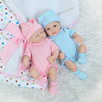 Maide mini 10 inch real life cute newborn baby dolls sleeping girl and boy full body