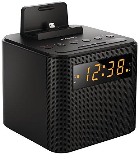 Philips AJ3200/05 Clock Radio Universal Charging (Micro USB, Apple, 30-Pin...