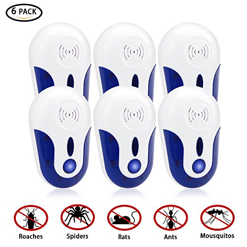 Ultrasonic Pest Repeller, Electromagnetic Pest Repellent Electronic Control Smart bug Repeller Plug in Home Indoor for Prevent Mosquito, Mouse, Ant, Bed Bug, Flea, Spider, Rodent, cockroaches