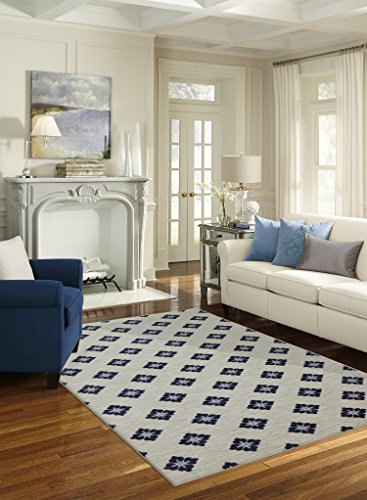 Mohawk Home Soho Button Fleur Floral Printed Area Rug, 7' 6