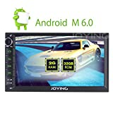 JOYING 7'' Android 6.0 Marshmallow Car Radio Double Din 2GB RAM Quad Core In-Dash Stereo Head Unit GPS Receiver Navigation Support Mirror Link Bluetooth PIP Sleep Mode WiFi OBD2