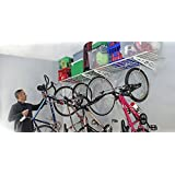 "SafeRacks | Wall Shelf Two-Pack 18""x48"" | Bike Hooks"