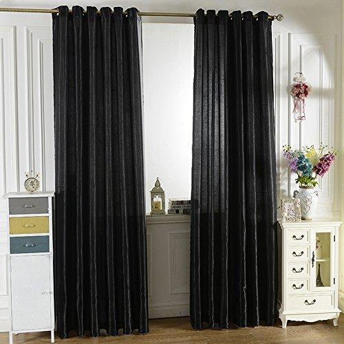 XJG Polyester Window shade Translucidus Curtains living Room Bedroom Sheer Curtains 1M x 2M Purple Through Rod