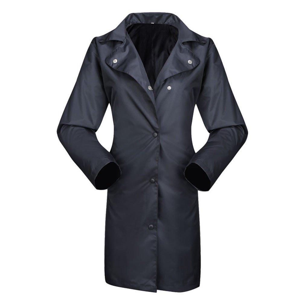 grand Liuzecai Manteau de Pluie Femmes Coupe-Vent imperméable en Plein air pour Femmes en Plein air pour Femmes imperméable Long Poncho d'équitation (Taille   XXL)
