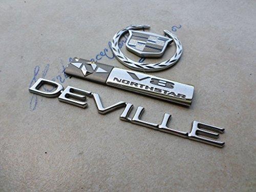 04 Cadillac Deville V8 Northstar Rear Lid Crown Wreath Emblem 10334040 Logo Badge Ornament Set (Northstar Ornament)