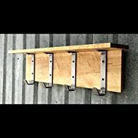 Industrial Rustic Maple Entry Shelf Coat Rack