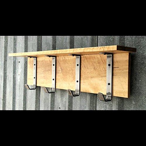 Industrial Rustic Maple Entry Shelf Coat Rack -