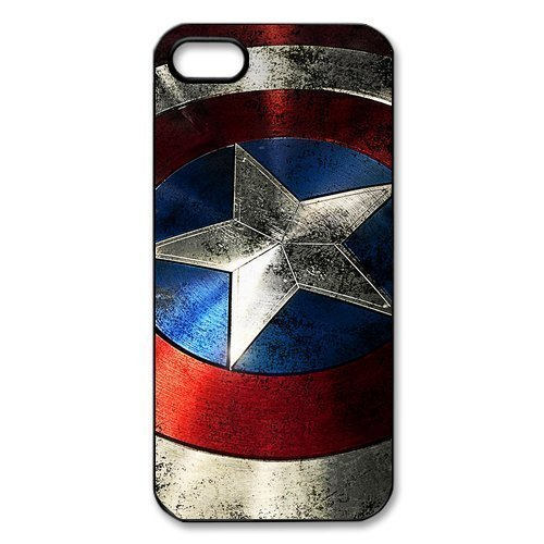 quality design dedb4 2db0b Amazon.com: Personalized Captain America Iphone 5 5S Hard Cover Case ...