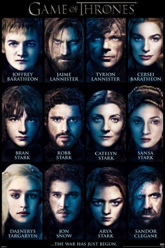 Amazon.com: Pyramid America Game of Thrones Characters List TV ... on iron throne characters, the knick characters, eddard stark, mad men characters, jaime lannister, arya stark, petyr baelish, brienne of tarth, robb stark, bran stark, south park characters, daenerys targaryen, daario naharis, game of thrones - season 2, tormund giantsbane, khal drogo, meera reed, the legend of korra characters, house targaryen, sandor clegane, loras tyrell, george r. r. martin, robin arryn, a dance with dragons, z nation characters, jeor mormont, margaery tyrell, winter is coming, the winds of winter, olenna tyrell, podrick payne, jorah mormont, ramsay bolton, family guy characters, glee characters, cersei lannister, theon greyjoy, silicon valley characters, a golden crown, renly baratheon, revenge characters, walking dead characters, alfie owen-allen, tywin lannister, tales of dunk and egg, grey worm, barristan selmy, supernatural characters, seinfeld characters, the simpsons characters, a clash of kings, robert baratheon, a storm of swords, lord snow, joffrey baratheon, tommen baratheon, tyrion lannister, davos seaworth, rickon stark, jon snow, a feast for crows, fire and blood, dothraki language, stannis baratheon, the prince of winterfell, roose bolton, game of thrones - season 1, oberyn martell, viserys targaryen, true detective characters, gregor clegane, samwell tarly, a song of ice and fire, breaking bad characters, boardwalk empire characters, futurama characters, ellaria sand, sons of anarchy characters, catelyn stark, sansa stark, finding carter characters,