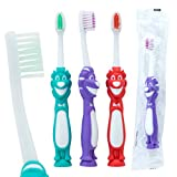 OraLine Toddler Lion Toothbrushes - Children's Dental Care Supplies - 72 per Pack