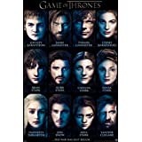 Game of Thrones Characters List TV Poster Print