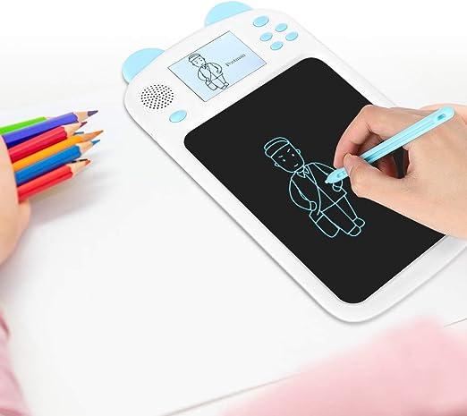 LCDライティングボード、デジタル描画タブレット音声放送学習パッド、子供向け最高のギフト消去可能な手書きパッド(青い)