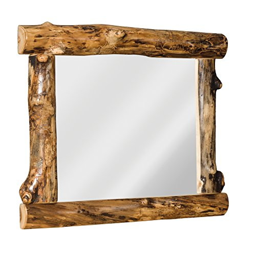 Furniture Barn USA Rustic Aspen Log Mirror ()