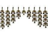 Aaradhi Vastu Om Ganesha Brass Bell Toran 11-9-7-5-3-5-7-9-11 Wall/Door Hanging Standard Yellow