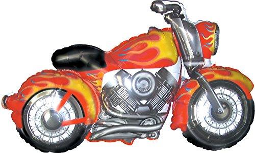 Creative Converting CTI Mylar Balloons, Snarly Motorcycle, 45