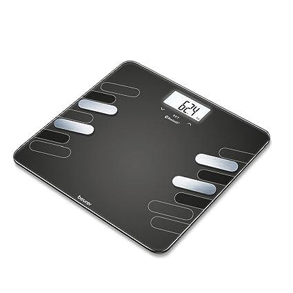 Beurer BF 600 - Bascula digital de vidrio, 180 kg /100 gr, diagnostica