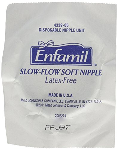 Enfamil Disposable Slow-Flow Soft Nipples, 10 Count