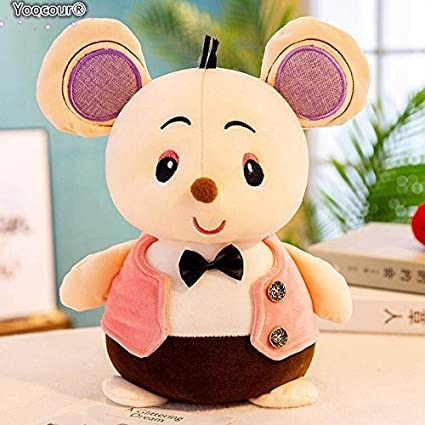 Tickles Funny Wearing Pink Vest Little Mouse Plush Toys 25 cm