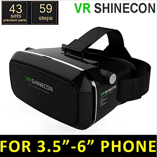 Tikeda-2016 New Version 3D VR Virtual Reality Glasses Headset , Suitable for Google, iPhone, Samsung Note, LG, Huawei, HTC, Moto 3.5-6.0 inch screen smartphone