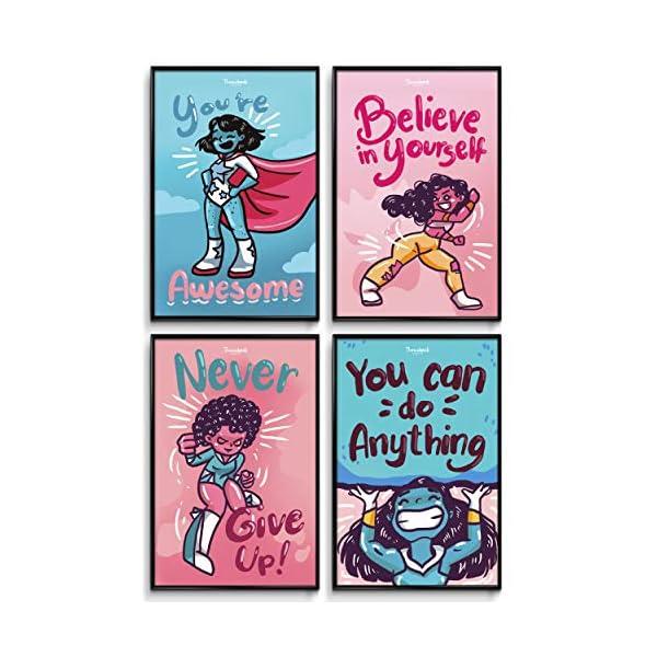 Girls Room Decor Black Girl Wall Art Posters For Teen Girls Room Kids Room Decor For Girls Girls Wall Decor Decorations For Girls Bedroom Kids Wall Art Wall Art For Girls Bedroom Tween 4 Set 11x17