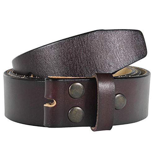 """NPET Men's Genuine Leather Belt Full Grain Snap On Belts 1.5"""" Wide (38 For 36"""" Waist, Coffee) from NPET"""