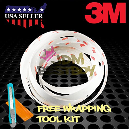 FREE TOOL KIT 180″ Genuine 3M Clear Scotchgard Car Paint Protector Door Edge Guard Scratch Sealing Trim (0.6″ Width Wide) 15FT