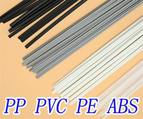 40PCS Plastic Welding Rods PP/PE/PVC/ABS Welding Electrode Welder Rods for Welder/Hot Air TOP Qualtiy Beige ABS 10PCS ()