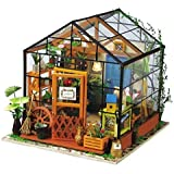 Hands Craft DG104 DIY 3D Wooden Puzzle Miniature House: Cathy's Flower | Tiny Dollhouse Kit with LED Lights for Adults and Kids