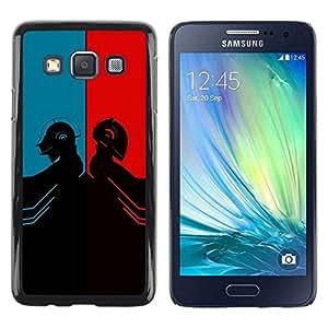 Be Good Phone Accessory // Dura Cáscara cubierta Protectora Caso Carcasa Funda de Protección para Samsung Galaxy A3 SM-A300 // Daft Duel Punk Band