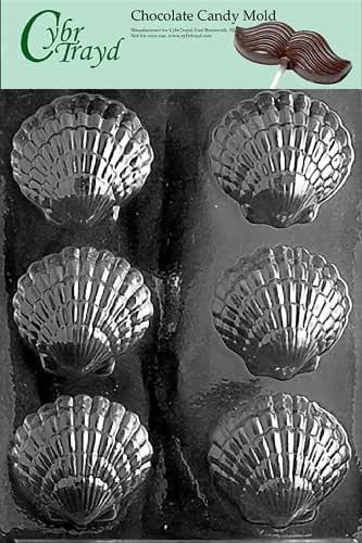 Cybrtrayd N003 Fancy Shells Chocolate/Candy Mold with Exclusive Cybrtrayd Copyrighted Chocolate Molding Instructions