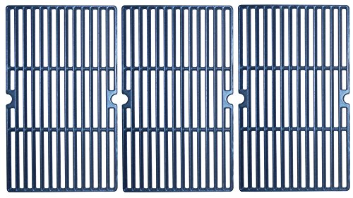 Music City Metals 64183 Matte Cast Iron Cooking Grid Replacement for Gas Grill Model Charbroil 463251512, Set of 3 by Music City Metals
